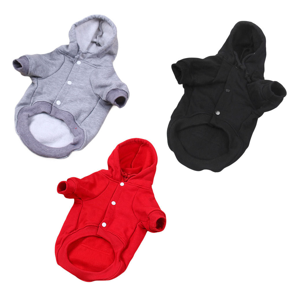 Dog Hoodie Warm Winter Coat Sweater Clothes Pet Puppy Knitwear Costume, Jumper