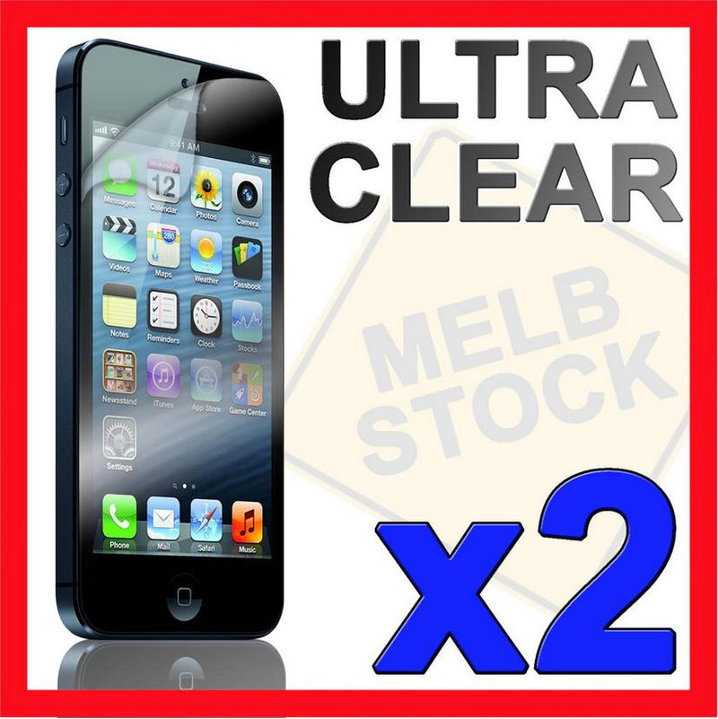 2x Ultra Clear LCD Screen Protector Guard Film Cover for Apple iPhone 5S 5C 5 SE