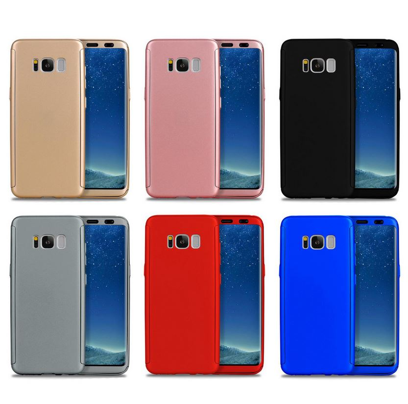 new style 48b03 993cd 360 Hybrid Shockproof Case Cover Tempered Glass for Samsung Galaxy S5 S6 S7  S8 +