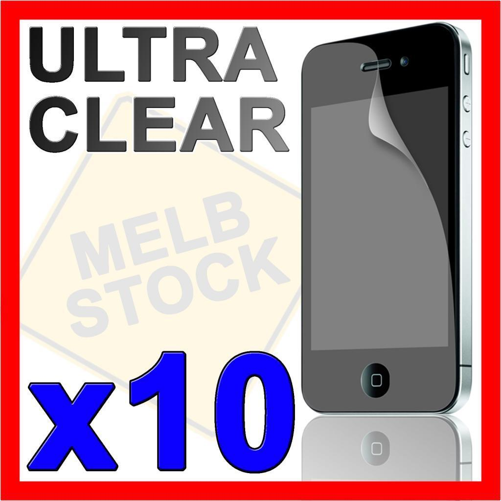 10 x Ultra Clear LCD Screen Protector Guard Skin Cover for Apple iPhone 4S 4G 4