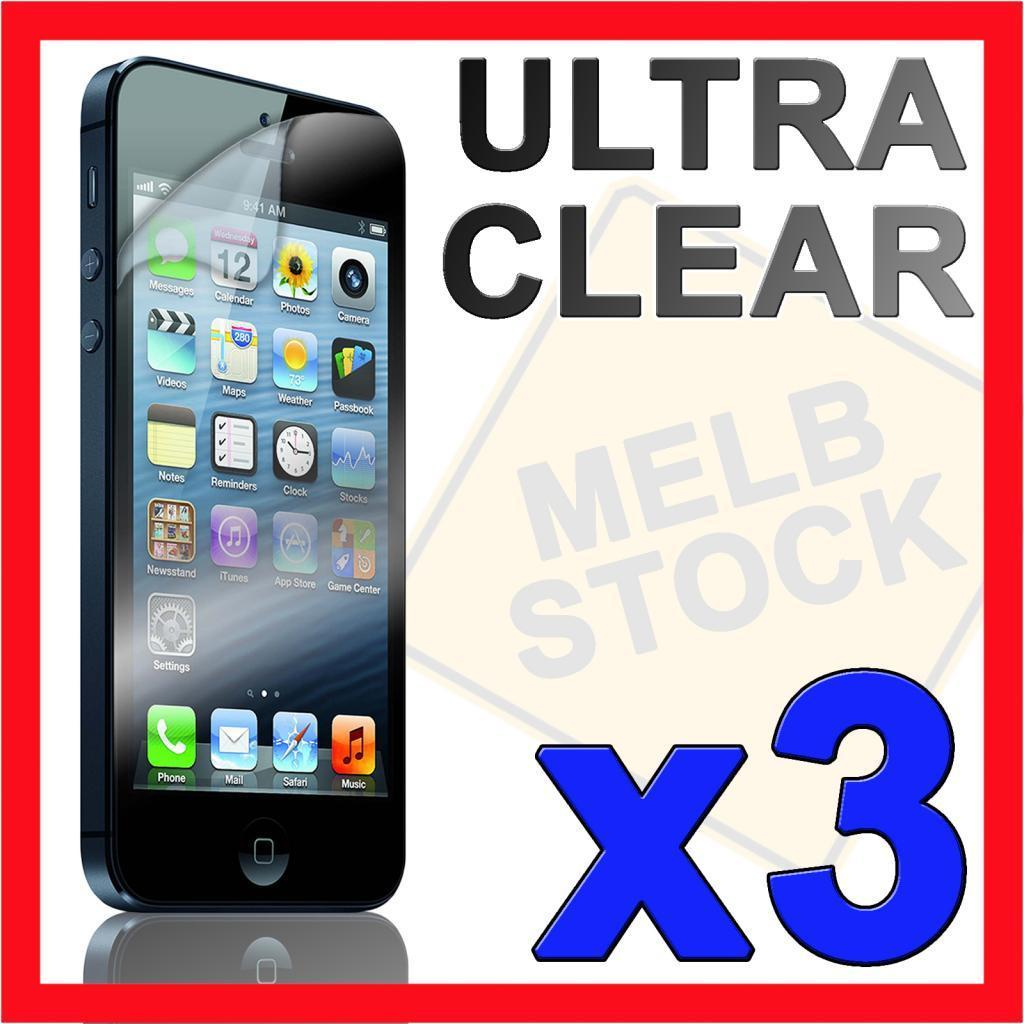 3 x Ultra Clear LCD Screen Protector Front Cover Film for Apple iPhone 5S 5C 5