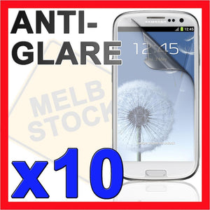 10 Anti Glare Matte LCD Screen Protector Film Guard for Samsung Galaxy S3 SIII