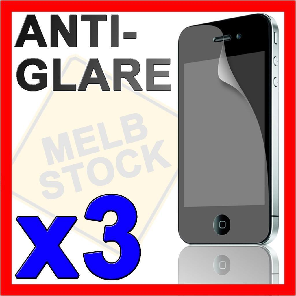 3 x Matte Anti Glare LCD Screen Protector Guard Film for Apple iPhone 4S 4G 4