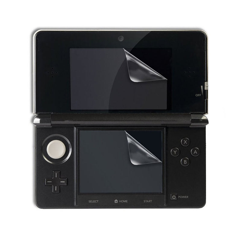2 in 1 Set Top & Bottom LCD Screen Protector Guard Cover Film For Nintendo 3DS