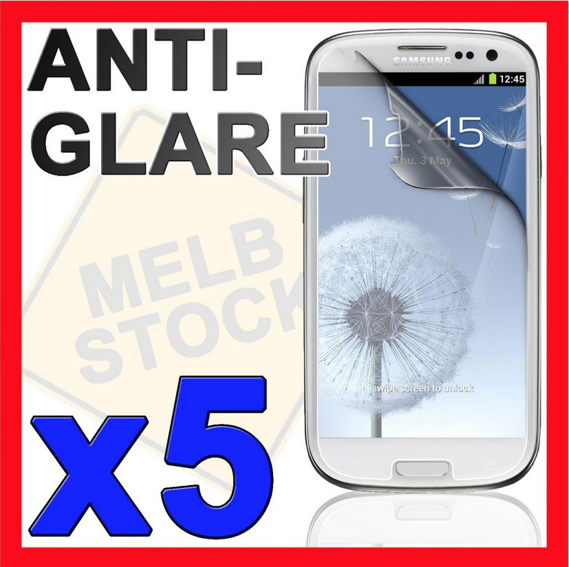 5x Anti Glare Matte LCD Screen Protector Film for Samsung Galaxy S3 SIII i9300