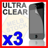 3 x LCD Screen Protector Guard Cover + Cleaning Cloth for Apple iPhone 4S 4G 4