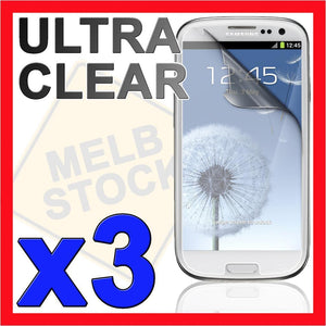 3 x Ultra Clear LCD Screen Protector Skin Guard for Samsung Galaxy S3 i9300 SIII