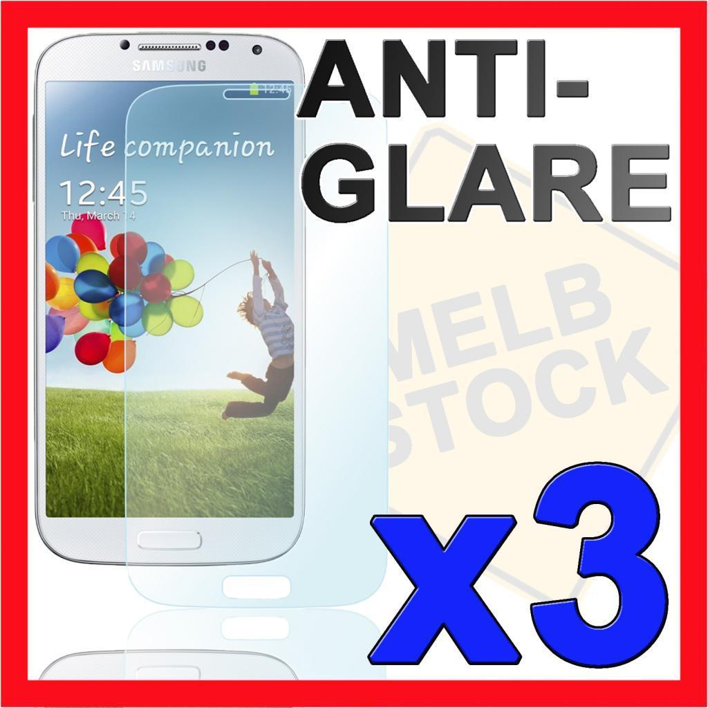 3x Anti Glare Matte Screen Protector Film for Samsung Galaxy S4 SIV i9500 i9505