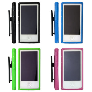 Belt Clip Soft Gel TPU Case Gym Running Cover for Apple iPod Nano 7 7th Gen