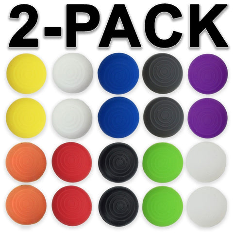 2x Silicone Gel TPU Thumb Grip Caps for XBOX 360 ONE PlayStation PS4 Controller
