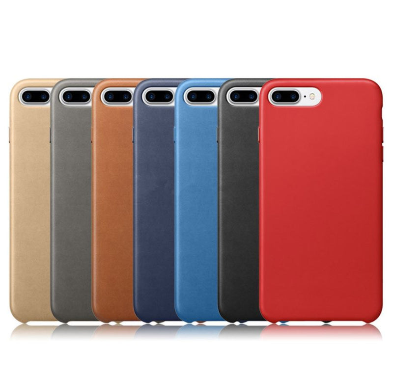 vasta selezione di 61678 19ddc Premium Leather Back Case Thin shockproof Cover for Apple iPhone 6 6s Plus  7 8 X