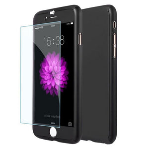 360 Hybrid Shockproof Case Cover Tempered Glass for Apple iPhone 6 6s 7 Plus 8 X