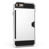 Shockproof Heavy Duty Tough Gel Case & Card Slot for Apple iPhone 6S & 6