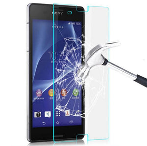 2 x GENUINE Tempered Glass Screen Protector Tough Film for Sony Xperia Z3