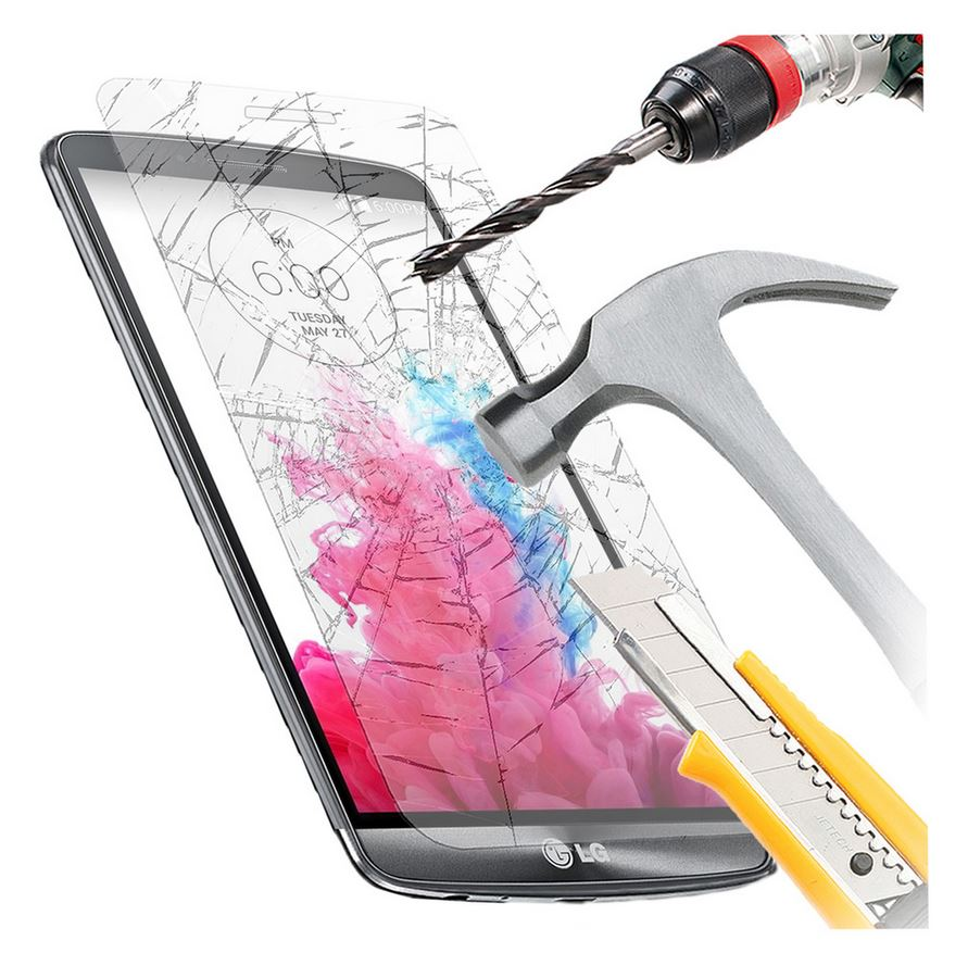 GENUINE Tempered Glass Screen Protector Scratch Resistant Film for LG G3 G4