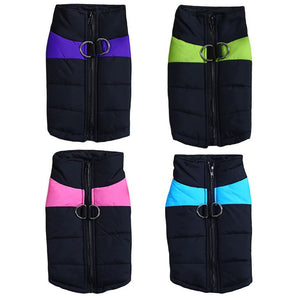 Padded Dog Jacket Waterproof Winter Coat Pet Windbreaker Clothes Puppy Wind Vest