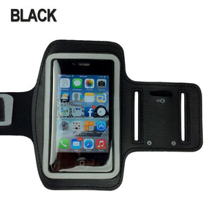 BLACK Sports Gym Running Armband Exercise Case for Apple iPhone SE 5S 5C 5 4S