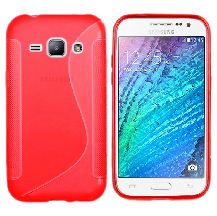 Gel S Curve Soft Cover Slim TPU Silicone Skin Case for Samsung Galaxy J1 J1 ACE