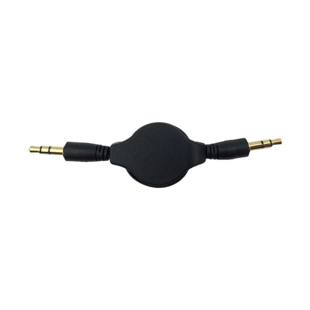 AUX Retractable Cable 3.5mm Audio Stereo Male to Male Extension Auxiliary Cord