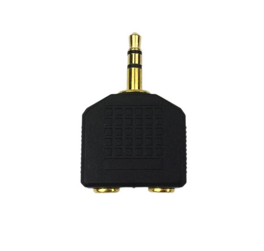 Headphone Splitter 3.5mm Jack Plug Audio AUX Cable Earphone Auxiliary Y Adapter