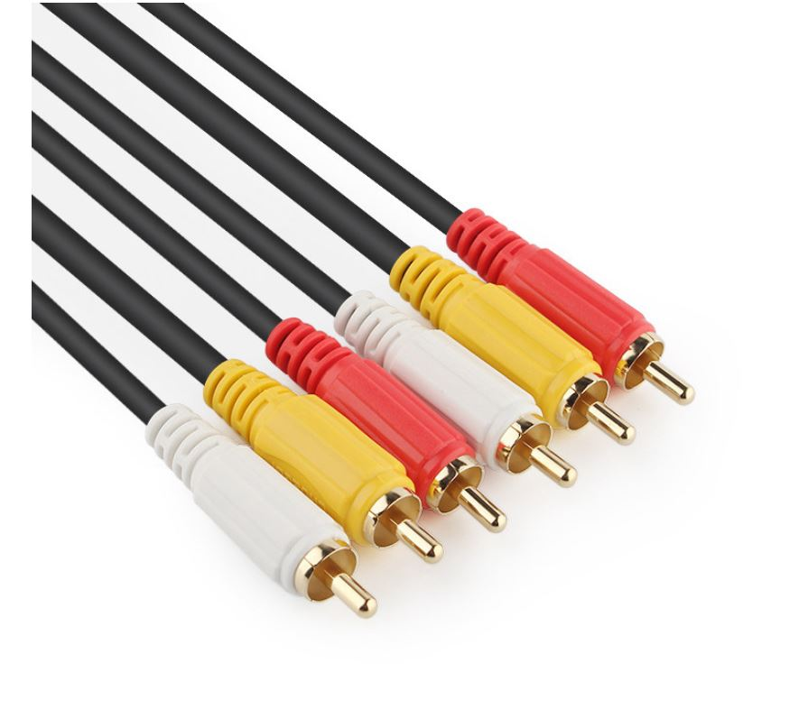 Premium AV Cable Male 3RCA to 3 RCA Male Composite Audio Video Cord DVD TV