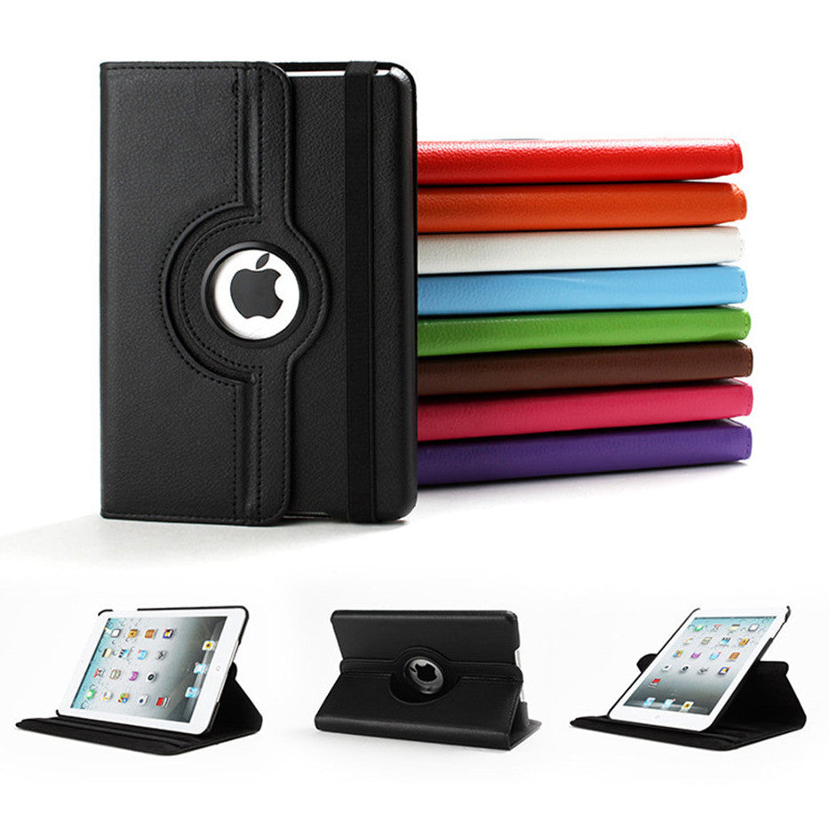 Leather Flip Wallet and Stand Case For Apple iPad 4, iPad 3, iPad 2