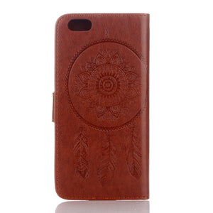Dreamcatcher Leather Flip Wallet and Stand Case For Apple iPhone 7