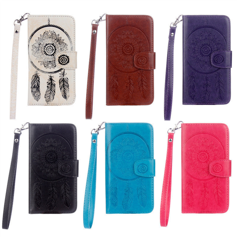 Dreamcatcher Leather Flip Wallet and Stand Case For Samsung Galaxy S6