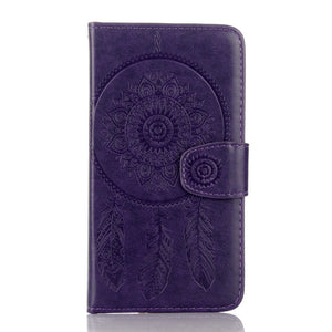 Dreamcatcher Leather Flip Wallet and Stand Case For Apple iPhone 5 / 5S / SE