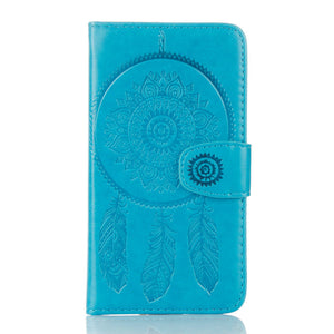 Dreamcatcher Leather Flip Wallet and Stand Case For Samsung Galaxy S7