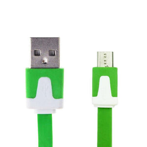 Flat Micro USB Data Charger Cable for Samsung Galaxy S7 S6 Edge S4 S3 HTC One M9