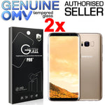 2 x GENUINE Tempered Glass Screen Protector Film for Samsung Galaxy S8 S8 Plus +