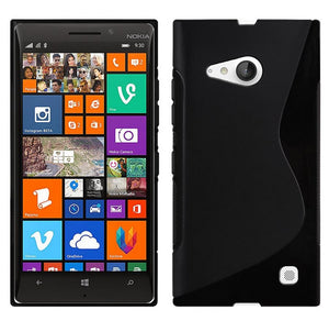 Gel Case S Curve Slim Soft Thin Cover + Screen Protector for Nokia Lumia 730 735