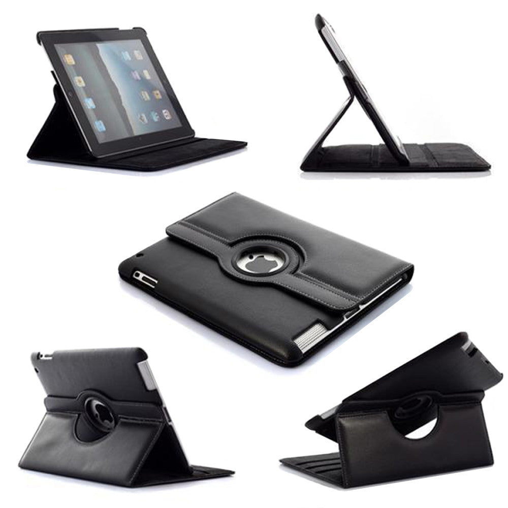 Leather Flip Wallet and Stand Case For Apple iPad Mini 3, Mini 2, Mini 1