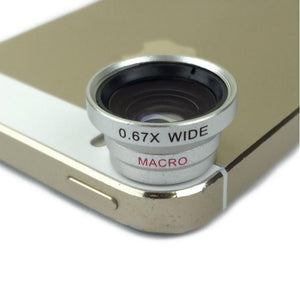 Fisheye + Macro Lens + Wide Angle Photo Camera Kit Set for Apple iPhone 5S 5C 5