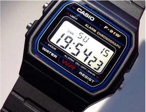 Genuine Casio F91W Digital Watch Retro Vintage Classic Unisex F-91-W-1 Original