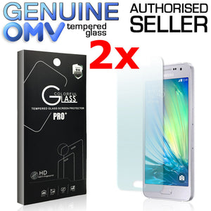 2 x GENUINE Tempered Glass Screen Protector Tough Film for Samsung Galaxy A3 A5