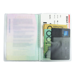 Clear Transparent Passport Cover Holder Case Organizer Plastic Travel Protector