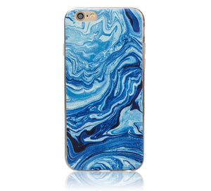 Marble Rock Pattern Gel Soft TPU Case Cover for Apple iPhone 5 6 6S Plus 7 8 X
