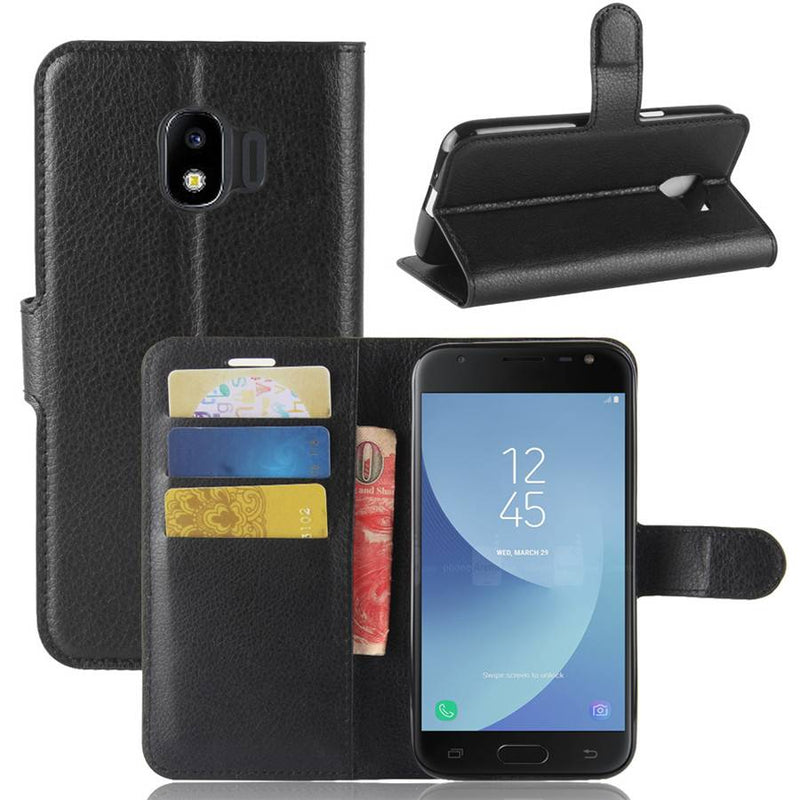 Leather Flip Case Wallet Gel Cover Stand For Samsung Galaxy J2 Pro 2018
