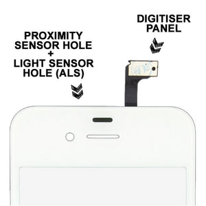 LCD Front Glass Panel + Touch Screen Digitizer + Tools for Apple iPhone 4S 4G 4
