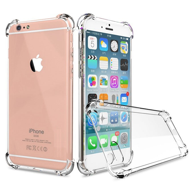 newest d551a 4d7b1 Shockproof Tough Gel Clear Case Cover for Apple iPhone 6S Plus