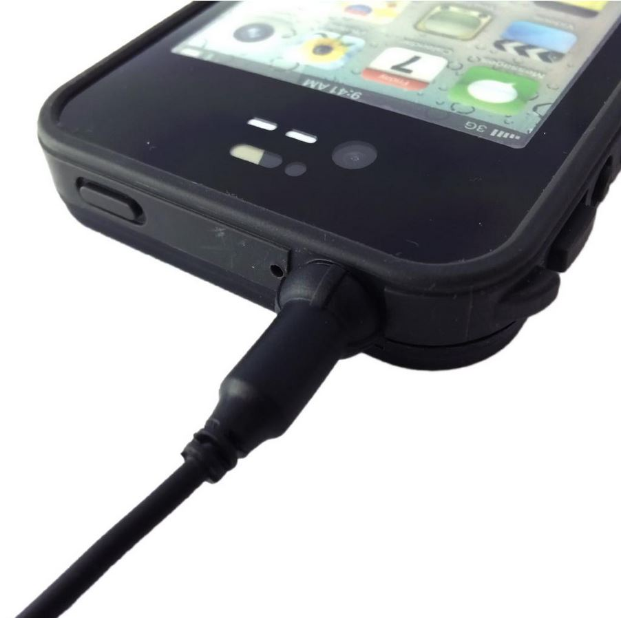 huge discount 5f5cd 68650 Headphone AUX Waterproof Cable Plug Adapter for Apple iPhone 4S 4 LifeProof  Case