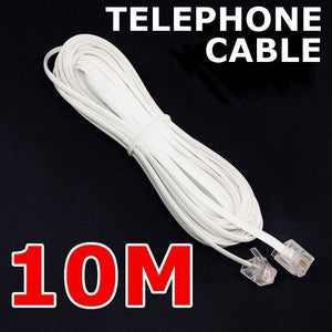 Phone Telephone Cable Extension Cord RJ11 Lead Plug ADSL2 Filter Home Modem Fax