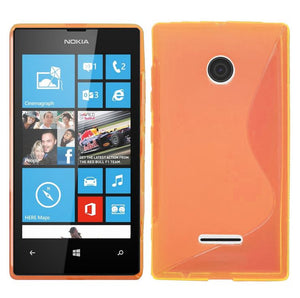 Gel Case TPU Slim Soft Thin Cover + Screen Protector for Nokia Lumia 435 & 532