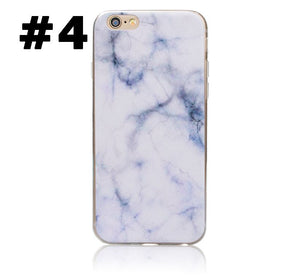 Marble Rock Pattern Gel Silicone Case Cover for Apple iPhone 5S SE 6S 7 8 Plus X