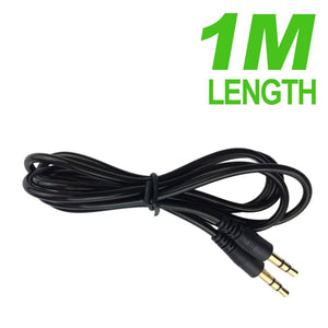 Round Auxiliary 3.5mm to 3.5mm Stereo Cable - 1 Meter