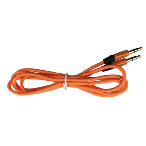 Round Auxiliary Stereo Audio Cable 3.5mm to 3.5mm - 1 Meter