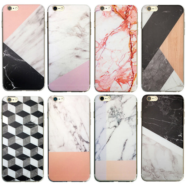new concept 38f7d c53af Marble Rock Pattern Thin Soft Gel Case for Apple iPhone 7 Plus