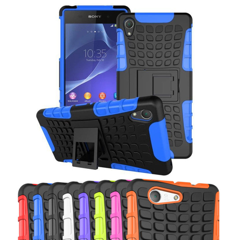 super popular 0e7d8 1c69c Shockproof Tough Heavy Duty Stand Case for SONY Xperia Z3 Compact